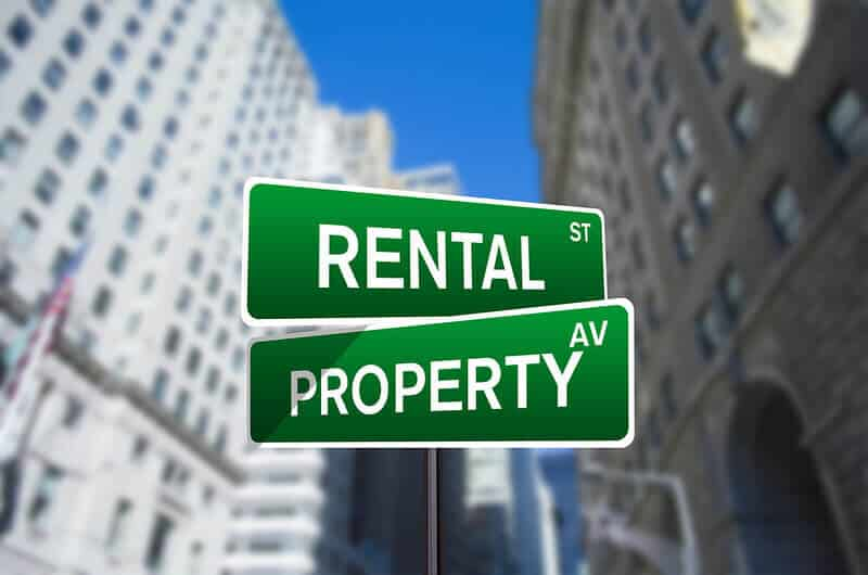 Rental property road sign